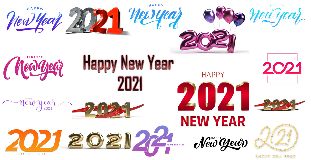 Happy New Year 2021 Text Png