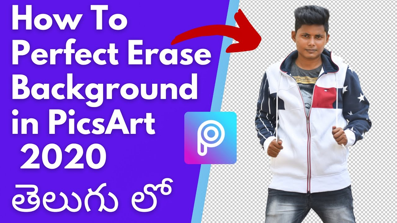 How To Perfect Erase Background in PicsArt Explained in Telugu