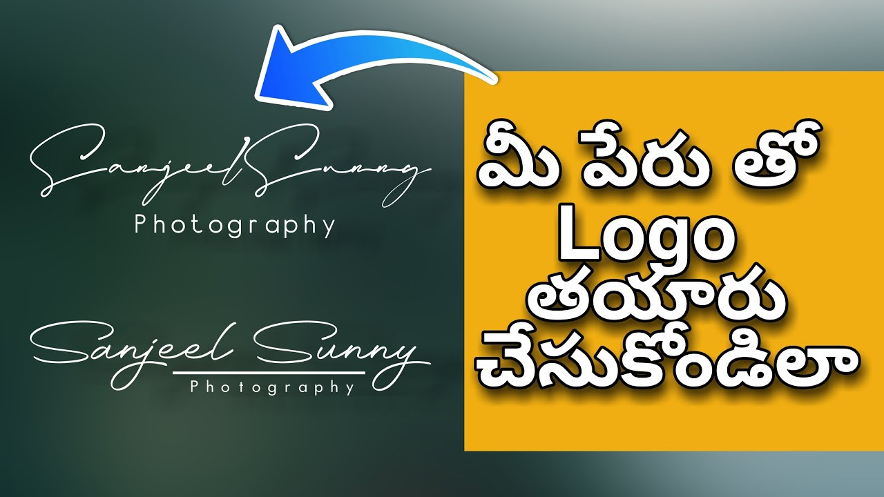 How to create own signature logo for photography on mobile