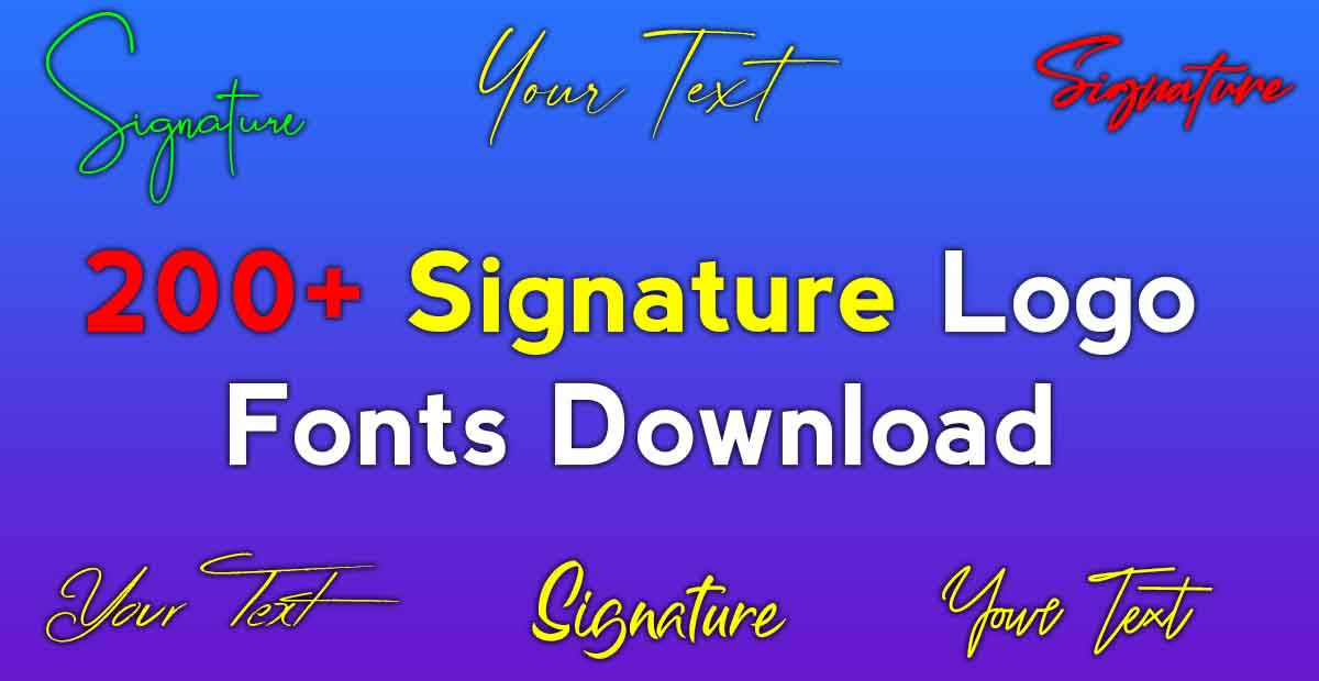 photography logo signature fonts free download
